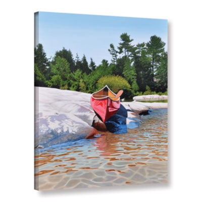 Brushstone Waters Edge Gallery Wrapped Canvas WallArt