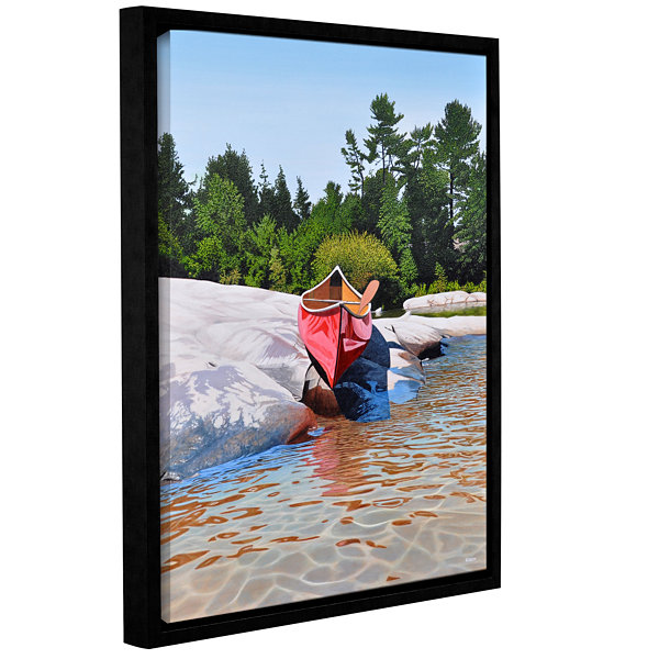 Brushstone Waters Edge Gallery Wrapped Floater-Framed Canvas