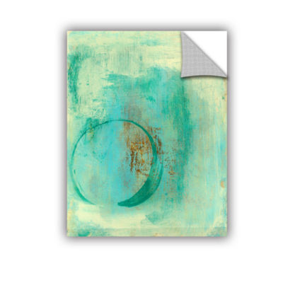 Brushstone Teal Enso Removable Wall Decal