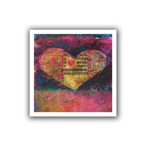 Brushstone Tantra Heart Canvas Wall Art