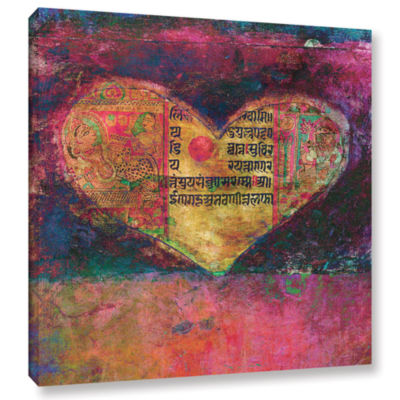 Brushstone Tantra Heart Gallery Wrapped Canvas Wall Art