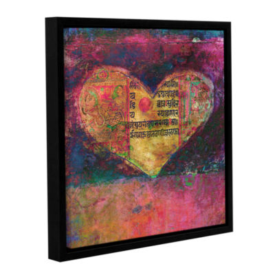 Brushstone Tantra Heart Gallery Wrapped Floater-Framed Canvas Wall Art
