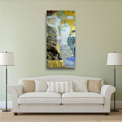 Brushstone Water Serpents Blonde Gallery Wrapped Canvas