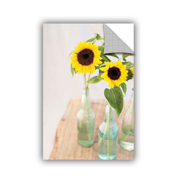Brushstone Sunflowers In A Bottle Removable Wall Decal
