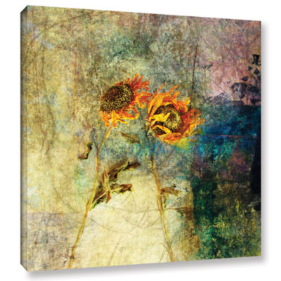 Brushstone Sunflowers Gallery Wrapped Canvas WallArt
