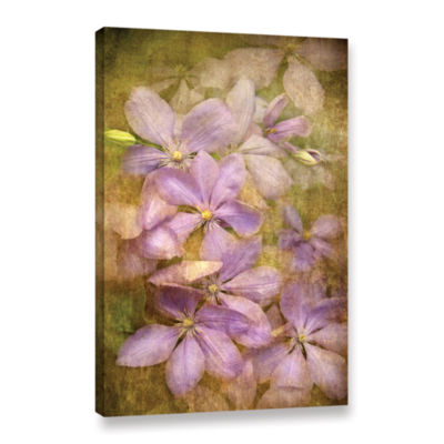 Brushstone Violet Flowers Gallery Wrapped Canvas