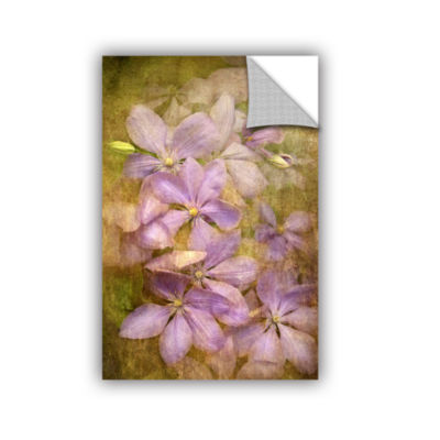 Brushstone Violet Flowers Removable Wall Decal