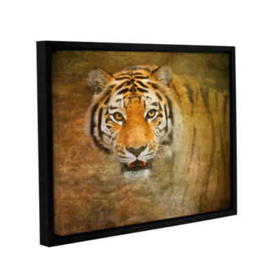 Brushstone Watching Tiger Gallery Wrapped Floater-Framed Canvas Wall Art