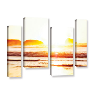 Brushstone Sunset On The Sea 4-pc. Gallery WrappedStaggered Canvas Wall Art
