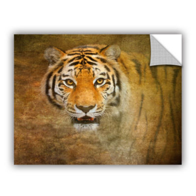 Brushstone Watching Tiger Removable Wall Decal