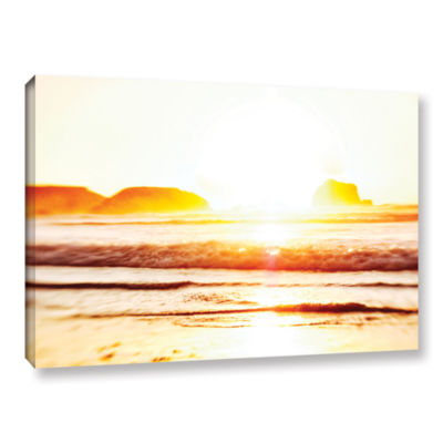 Brushstone Sunset On The Sea Gallery Wrapped Canvas Wall Art