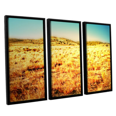 Brushstone Take A Seat 3-pc. Floater Framed CanvasWall Art