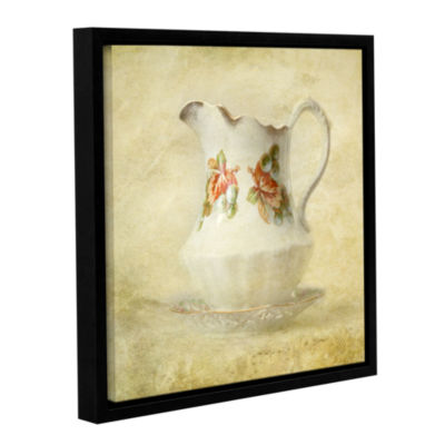 Brushstone Water Pitcher Gallery Wrapped Floater-Framed Canvas
