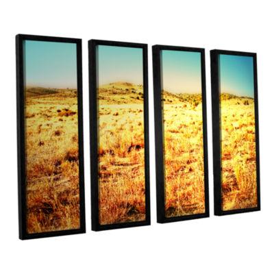 Brushstone Take A Seat 4-pc. Floater Framed CanvasWall Art