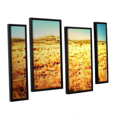 Brushstone Take A Seat 4-pc. Floater Framed Staggered Canvas Wall Art