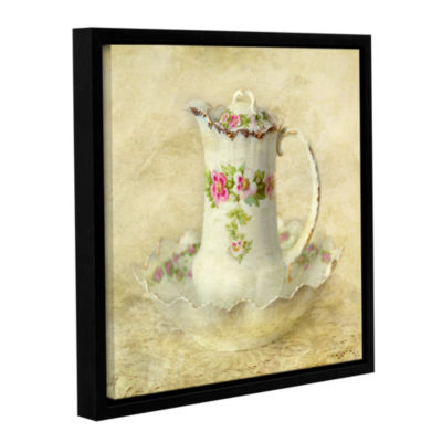 Brushstone Water Pitcher 2 Gallery Wrapped Floater-Framed Canvas