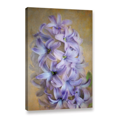 Brushstone Violet Lillies Gallery Wrapped Canvas Wall Art