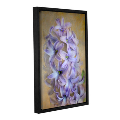 Brushstone Violet Lillies Gallery Wrapped Floater-Framed Canvas