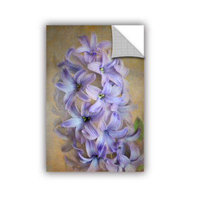 Brushstone Violet Lillies Removable Wall Decal