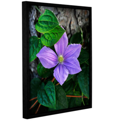 Brushstone Violet Gallery Wrapped Floater-Framed Canvas