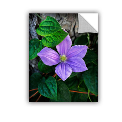 Brushstone Violet Removable Wall Decal
