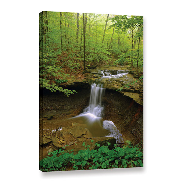Brushstone Water Falls Gallery Wrapped Canvas