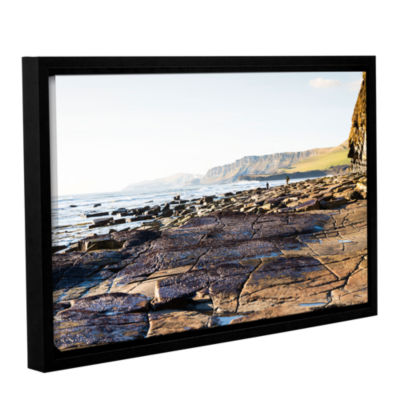 Brushstone Walking the Rocks Gallery Wrapped Floater-Framed Canvas