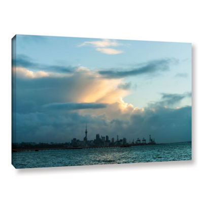 Brushstone View Of Auckland Gallery Wrapped CanvasWall Art