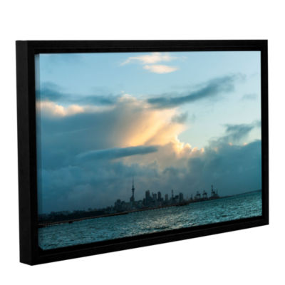 Brushstone View of Auckland Gallery Wrapped Floater-Framed Canvas