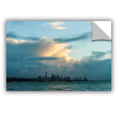 Brushstone View of Auckland Removable Wall Decal
