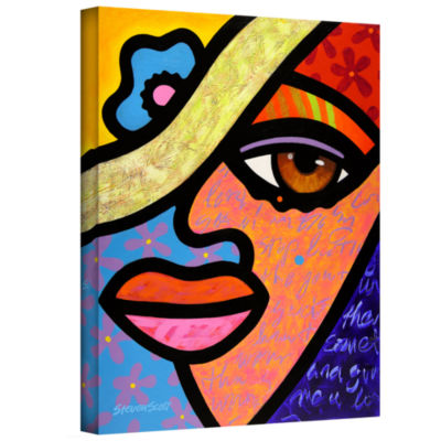 Brushstone Sweet City Woman Gallery Wrapped CanvasWall Art