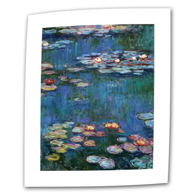 Brushstone Water Lillies By Claude Monet Canvas Wall Art