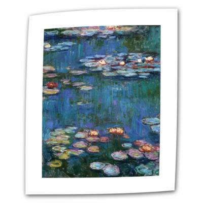Brushstone Water Lillies Canvas Wall Art