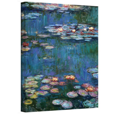 Brushstone Water Lillies Gallery Wrapped Canvas