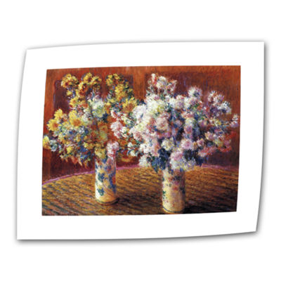 Brushstone Two Vases By Claude Monet Canvas Wall Art