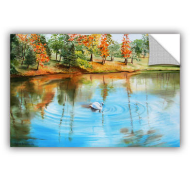Brushstone Swan At Crandall Park Removable Wall Decal