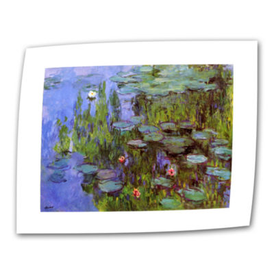 Brushstone Two Sailboats By Claude Monet Canvas Wall Art