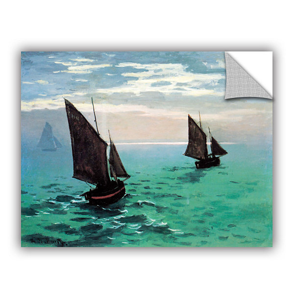 Brushstone Two Sailboats By Claude Monet RemovableWall Decal