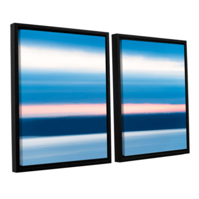Brushstone Sunrise Blur 2-pc. Floater Framed Canvas Wall Art