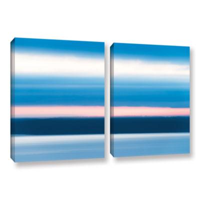 Brushstone Sunrise Blur 2-pc. Gallery Wrapped Canvas Wall Art