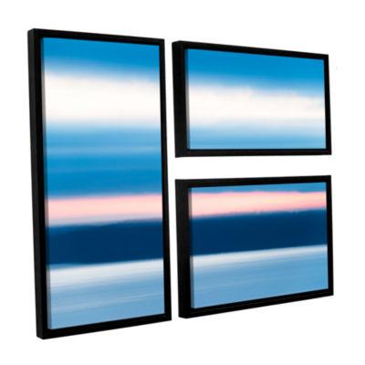 Brushstone Sunrise Blur 3-pc. Flag Floater FramedCanvas Wall Art