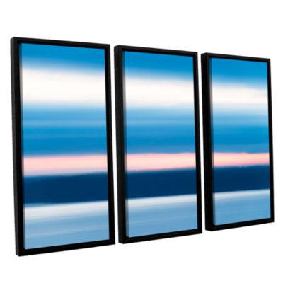 Brushstone Sunrise Blur 3-pc. Floater Framed Canvas Wall Art