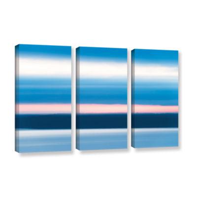 Brushstone Sunrise Blur 3-pc. Gallery Wrapped Canvas Wall Art