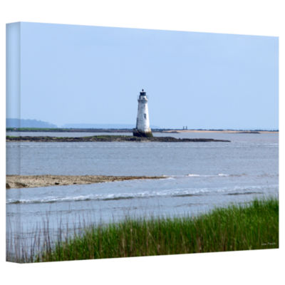 Brushstone Tybee Islands Unofficial Lighthouse Gallery Wrapped Canvas