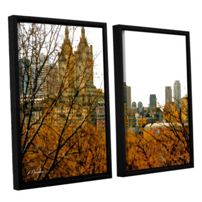 Brushstone Urban Autumn NYC 2-pc. Floater Framed Canvas Set