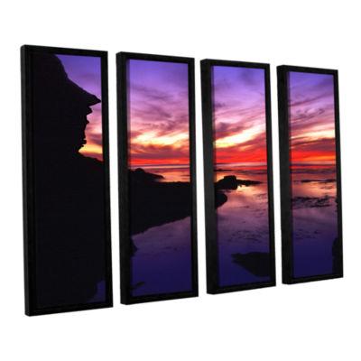 Brushstone Sunset Cliffs Twilight 4-pc. Floater Framed Canvas Wall Art