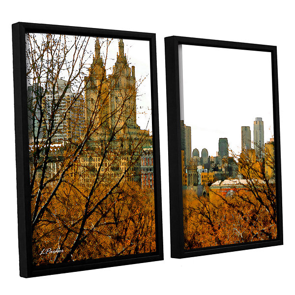 Brushstone Urban Autumn NYC 2-pc. Floater Framed Canvas Wall Art