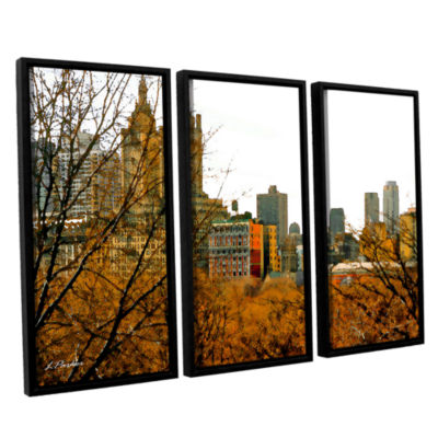 Brushstone Urban Autumn NYC 3-pc. Floater Framed Canvas Set