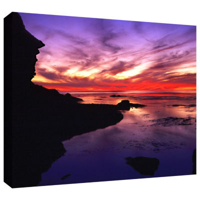 Brushstone Sunset Cliffs Twilight Gallery WrappedCanvas Wall Art