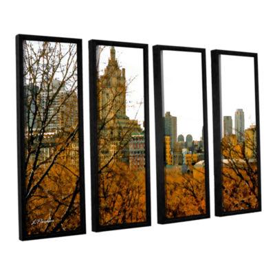 Brushstone Urban Autumn NYC 4-pc. Floater Framed Canvas Set